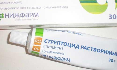 Стрептоцид при прыщах