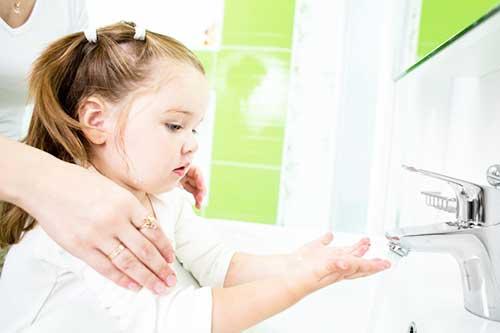 Мыть руки детям