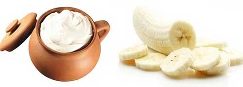 Маски для лица: банан и сметана