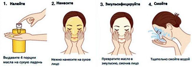 Способ применения гидрофильного масла